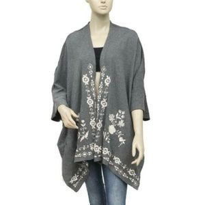 Caite Kiara Floral Embroidered Coverup Cardigan S